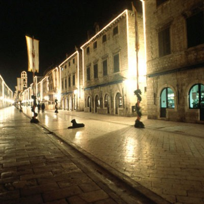 Stradun Dubrovnik at night