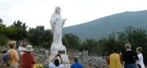 Statue of Virgin Mary at Podbrdo, place of apparition