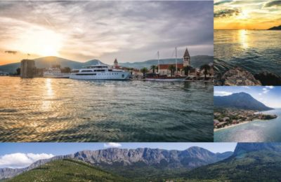 Adriatic treasure cruise ship and cities collage