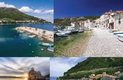 Adriatic discovery cruise beaches and destinations photo collage