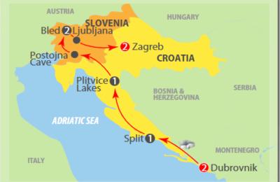 Dalmatian sunshine adriatic tour 2019